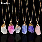 Timlee N143 Fashion Natural Stone Necklace Irregular Rough Pendant Necklaces