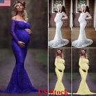 Women Lace Maternity Photography Props Long Pregnancy Dress Clothes For Pregnant