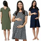 Happy Mama. Women's Labor Delivery Hospital Gown Breastfeeding Maternity. 434p