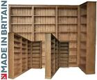 Solid Pine Corner Bookcase, 7ft x 8ft Library Display Shelving, Bookshelves