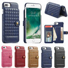 PU Leather Back Stand Case with Card Holder Cover for Apple iPhone 6 6S 7 8 Plus