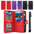 "For Motorola Moto G5 Plus 5.2"" Flip Card Wallet Cover Case Wrist Strap + Pen"
