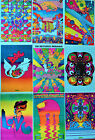 Vintage Peter Max Posters, 11x16, Psychedelic Pop Art, 48 years old, 46 options