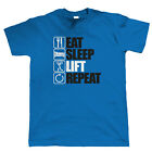 Eat Sleep Lift Repeat Body Building T Shirt - Gift for Him Dad Christmas