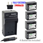 canon legria hf m406 - Kastar 4 Battery & Normal Charger kit for Canon BP-718 BP718 CG-700