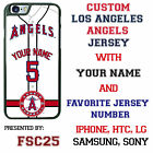 Custom Los Angeles Angels Jersey Phone Case Your with Name & # for iPhone