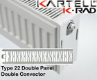 Kartell K-Rad Double Panel Type 22 Compact Radiator 900mm High Various Widths