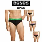 Mens Bonds Basic Everyday New Hipster Brief 8 Pack Work & Play Cotton M38DM4