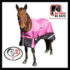 LOVE MY HORSE 1200D 5'9 - 6'6  Reflective Rainsheet Std Horse Rug Pink / Black