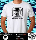 MENS  WHITE  T SHIRT TRIUMPH CHOPPER LOGO FREE POST BIG SIZES XXL AND XXXL $29.5 AUD on eBay