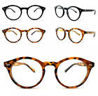 Oval Round Black Tortoiseshell Clear Lens Glasses Geek Nerd Eyeglasses