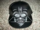 DARTH VADER Star Wars New NWT Big Face Fitted HAT CAP LID Black 7 1/8 1/4 $78.95 USD