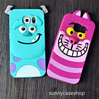 Cute cartoon Sulley cat Rubber soft Case cover for Samsung Galaxy S7 S6 edge S5