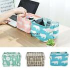 Desk Foldable Storage Bin Basket Cosmetics Stationery Cloth Organizer TXSU