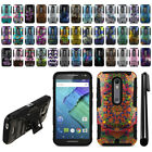 For Motorola Moto X Style XT1575 Hybrid Rugged Heavy Duty Stand Case Cover + Pen