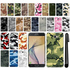 For Samsung Galaxy On7 / On Nxt/ J7 Prime Camo Design HARD Back Case Cover + Pen