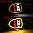2x Car DRL LED Turn Signal Day Running Light Tube Sequential Switchback for Audi