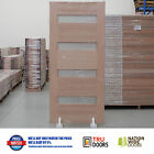 4S TRANSLUCENT Glass French Solid Timber Doors Hardwood Front Entry Exterior