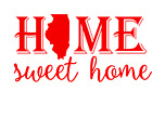 Illinois State Home Sweet Home Vinyl Decal Sticker RV Window Wall Home Choice