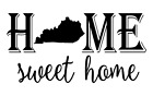 Kentucky State Home Sweet Home Vinyl Decal Sticker RV Window Wall Home Choice