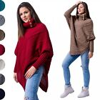 Glamour Empire Women's Warm Knit Poncho Sweater Batwing Cape Top Jumper 956