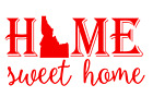 Idaho State Home Sweet Home Vinyl Decal Sticker RV Window Wall Home Choice