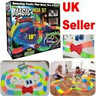 360 MAGIC TRACKS 18Ft Glow in the Dark 3LED LIGHT UP RACE Police Cars Bend Flex