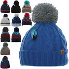 Kyпить Mens Winter Warm Woolly Bobble Knitted Ski Hat Chunky Thick Pom Beanie Fisherman на еВаy.соm
