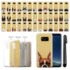 "For Samsung Galaxy S8 G950 5.8"" Dog Design Sparkling Gold TPU Case Cover + Pen"