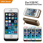 4200mah External Battery Backup Charger Bank Power Case Cover For Iphone 5 5s Se