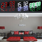 Modern Design Digital LED 3D Table Night Time Wall Clock 24/12 Hour Alarm Large