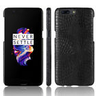 Unique Slim Hard PC Case Leather Skin Shockproof Cover For OnePlus X 1 2 3 3T 5