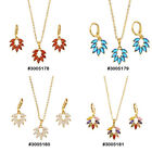 CZ Stone Fashion Jewelry Gold Plated Necklace set 178