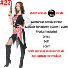 Christmas Buccaneer Adult Gothic Pirate Cosplay Fancy Costume Sets Dress Party