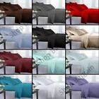 Plain Dyed Elastic Fitted Sheet Polycotton Single Double King SuperKing Size