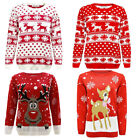Ladies Womens Mens Unisex Xmas Jumper Novelty Vintage Retro Knitted Sweater