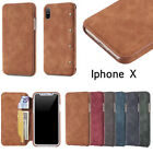 PU Leather Case Ultra Slim Wallet Flip Card Slot Cover for Apple iPhone X 10