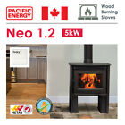5kW Wood Burning Stove in Ivory & Optional Fan - Pacific Energy - DEFRA Approved