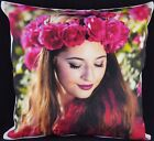Personalised CANVAS Cushion Cover Large Printed Photo Gift Filling option IVORY