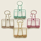 photo wire hanging - Hollow Metal Binder Clips Steel Wire Craft Paper Photo Hanging Stationery Folder