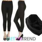 Fleece Leggings Winter Women Thick Warm Lined Thermal Slim Skinny Pant Black New