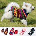 Small Dog Pet Puppy Cat Warm Jumper Knit Sweater Clothes Knitwear Costume Coat