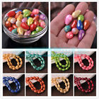 Powder Lacquer Teardrop Faceted Glass Loose Spacer DIY Beads 8x12mm 10x15mm