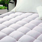 Luxury Deep Pocket Mattress Topper Quilted Pad Cotton Top Goose Down Alternative image