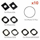 10X Home Button Rubber Gasket Adhesive Sticker Holder For iPhone 4 5 6 6s 7 Plus
