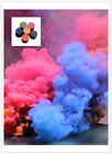 1/2/4 pcs Colorful Smoke Cake Effect Show Round Bomb Photography Divine Gifts