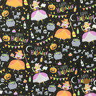 Cute Witch Happy Halloween 100% cotton fabric per 1/2 metre / FQ