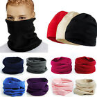 Snood Scarf Winter Hat Fleece Neck Warmer Balaclava Men Women Black Ski MaskBIUJ