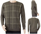 New Ex The Edinburgh Woollen Mill Mens Pure Wool Jumper Brown Sweater Size S-XL