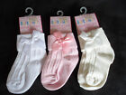 New Baby Girls Special Occasion Socks with Bow-Christening,Weddings,Parties